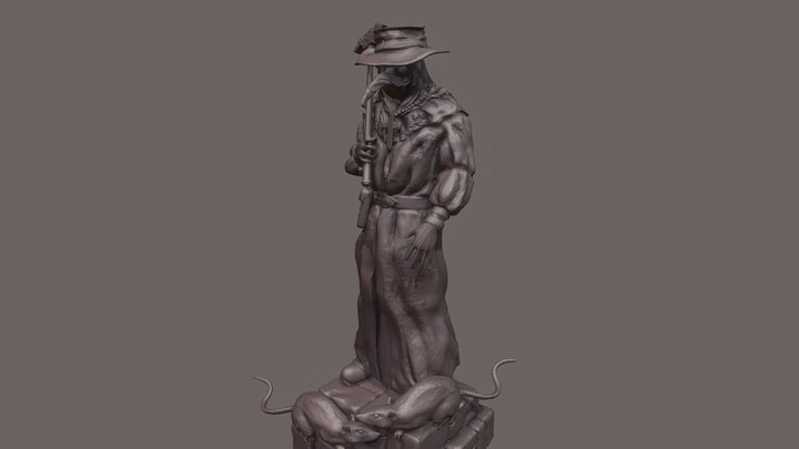 Pest Doctor 3D Model