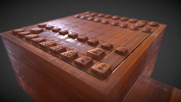 Shogi Set 3D Model