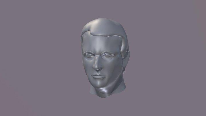 Macron Likeness Wip 01 3D Model