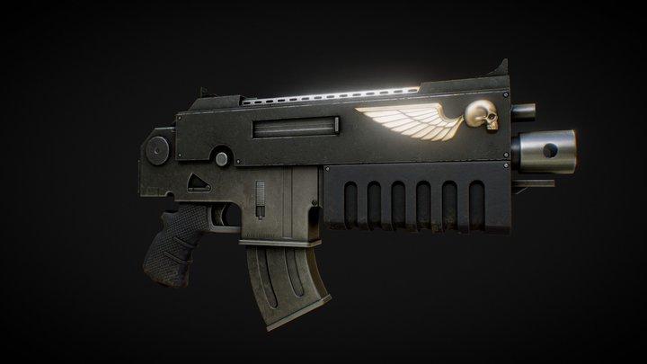 warhammer 40k Bolter 3D Model