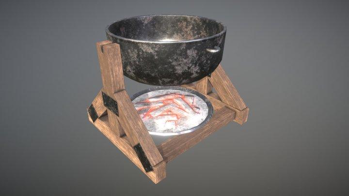 Medieval Cauldron 3D Model