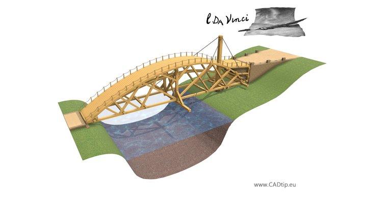 Swing bridge 3D Model