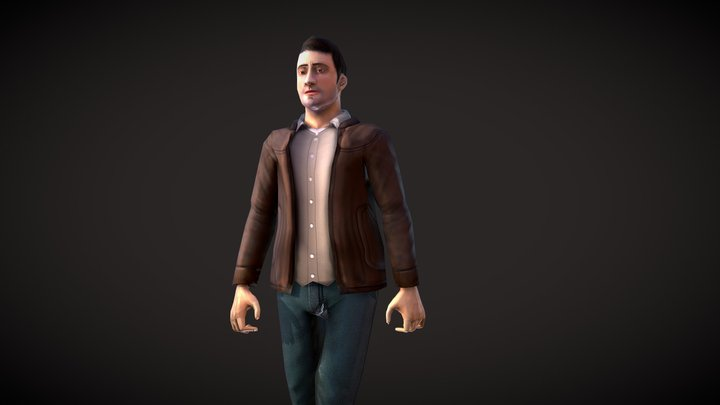 Casual Male - Architectural and Mobile Games 3D Model