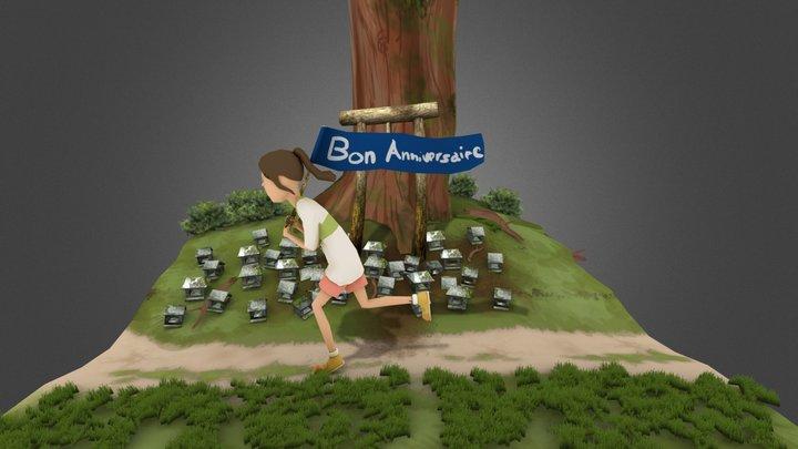 Chihiro scenery  3D Model