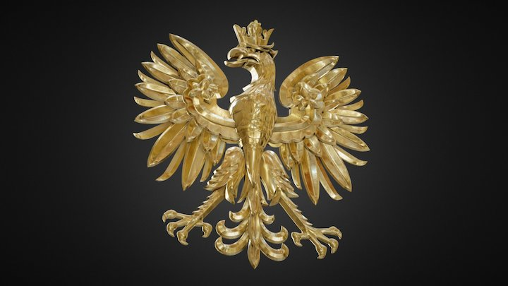 Eagle - Coat of Arms (modeling and texturing) 3D Model