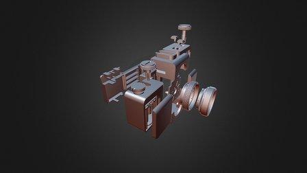 Exploded 3DP Camera 3D Model