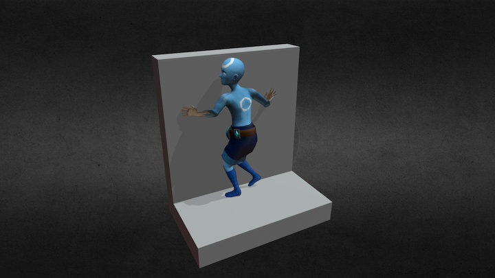 Lux Wall Strafe Animation 3D Model