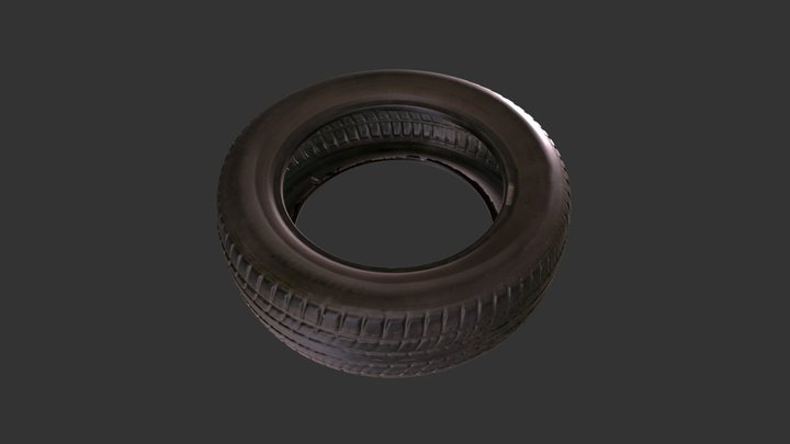 3D Scan of a Tyre 3D Model
