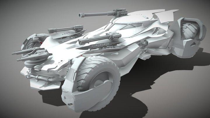 BATMOBILE Justice league 3D Model