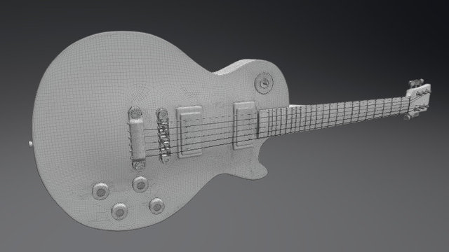 Guitar gibson les paul custom 3D Model