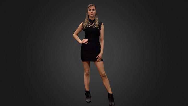 Shannon Cocktail Dress 3D Model