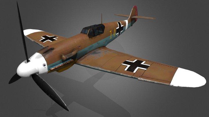 Messerschmitt BF 109 f4/trop 3D Model