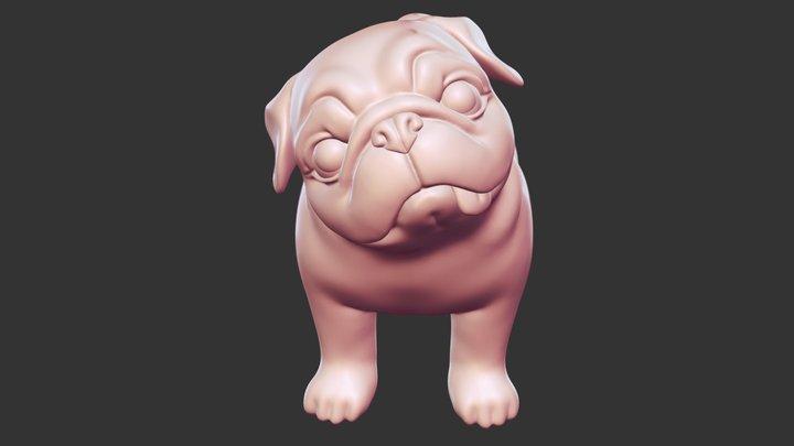 Question Pug STL for 3D print 3D Model