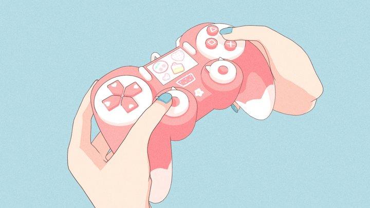 Kawaii Game Controller 3D Model
