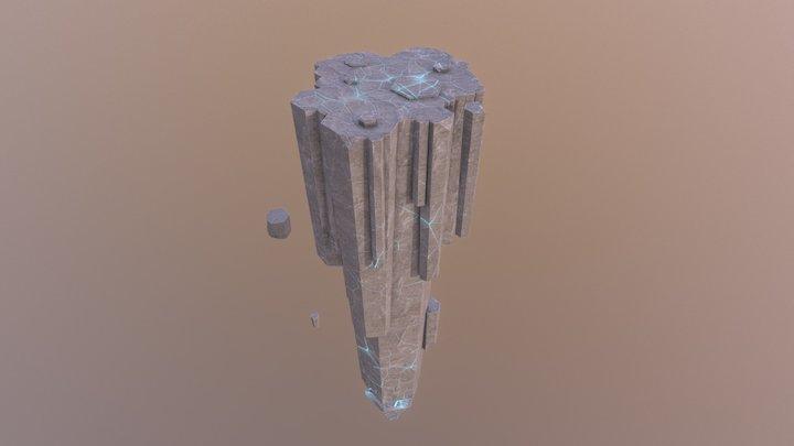 Flying Rock 3D Model