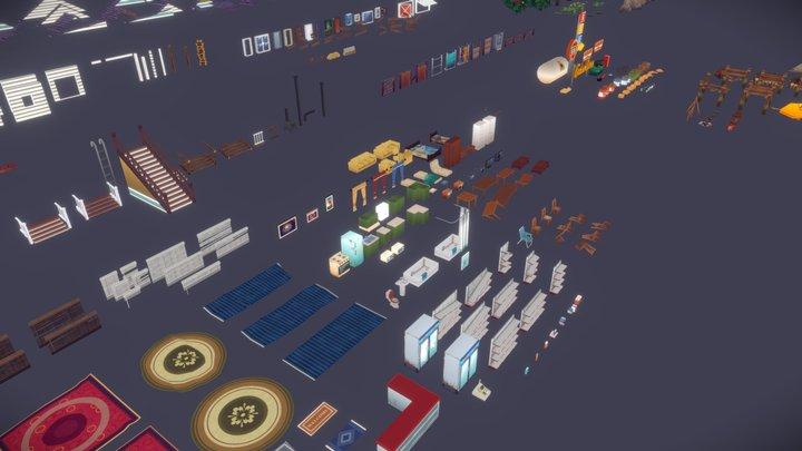 SurrounDead - Survival Game Assets 3D Model