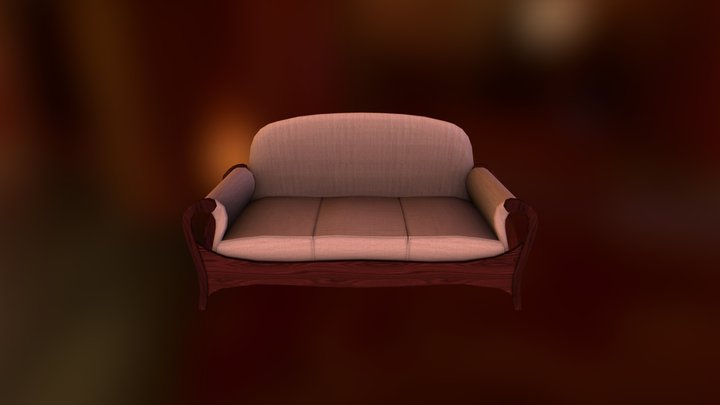 Game Couch 3D Model