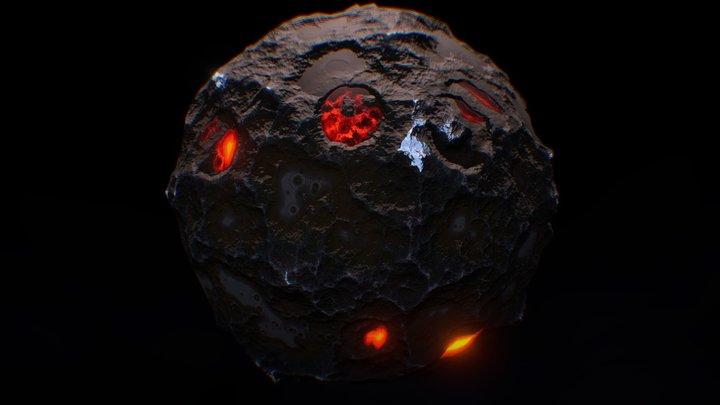 Magma Planet 3D Model