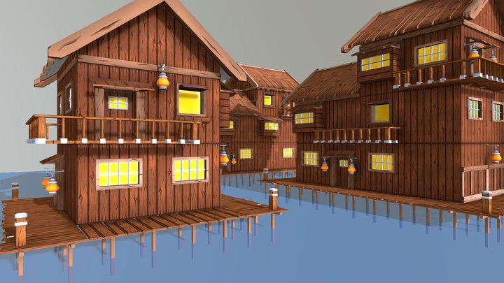 Stilt Village - Environmental Modelling 3D Model