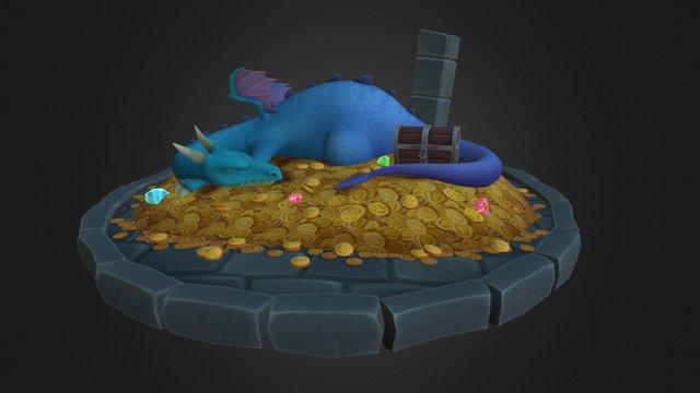 Dragon Scene 3D Model