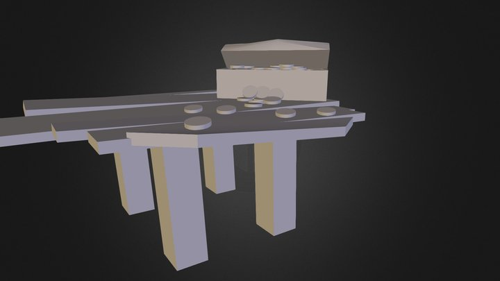 Gold Coin Table 3D Model