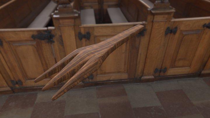 Wooden Fork 01 3D Model