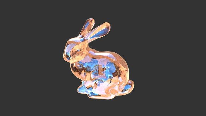 Glass Bunny 3D Model