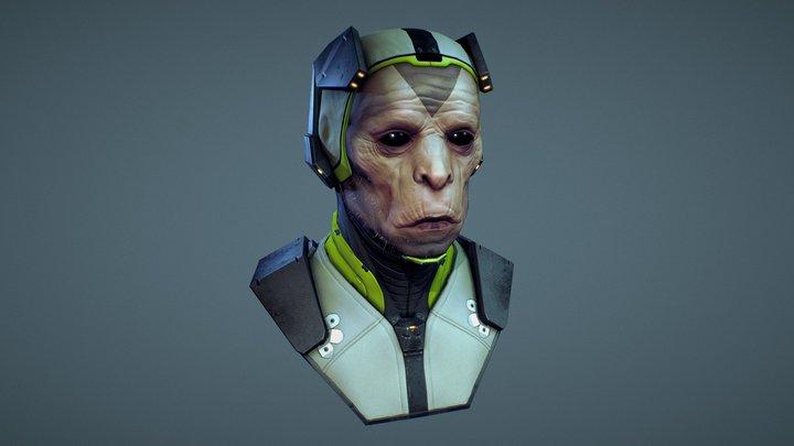 Monkey astronaut 3D Model