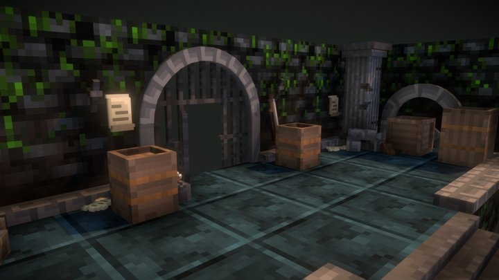 The Dwellers - Dungeon Tileset 3D Model