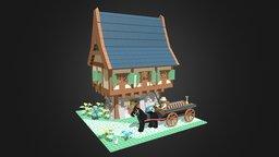 Cottage MOC 3D Model