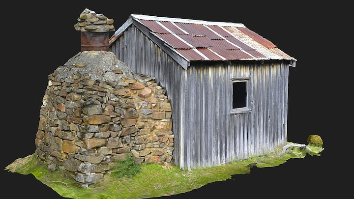 High country cattlemens hut 3D Model