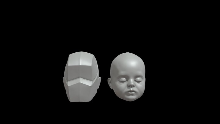 Planes of the baby head 3D Model
