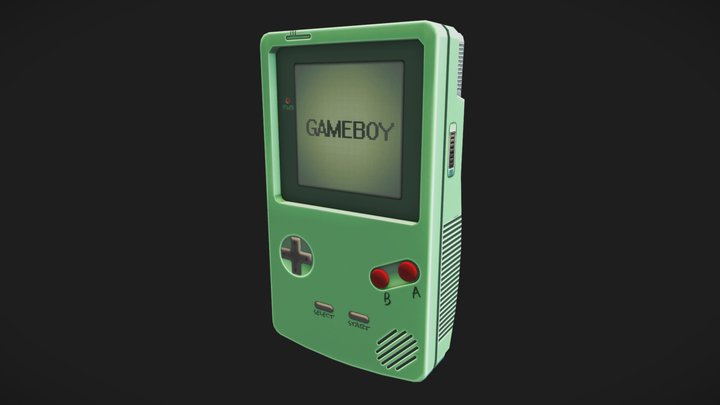 #GameBoyChallenge 3D Model