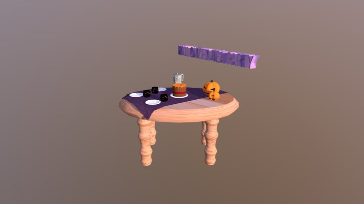 Halloween Tea Party 3D Model