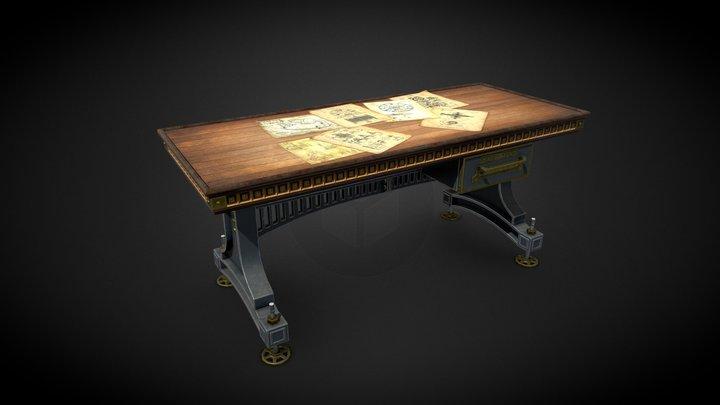 Homework_texturing_Desk 3D Model