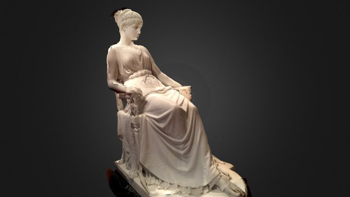 Ivory Sitting Lady, De Young Museum 3D Model
