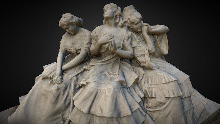 3 amores - Glorieta Bécquer, Parque María Luisa 3D Model