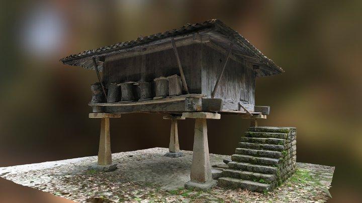 Hórreo del pueblo de Asturias 3D Model