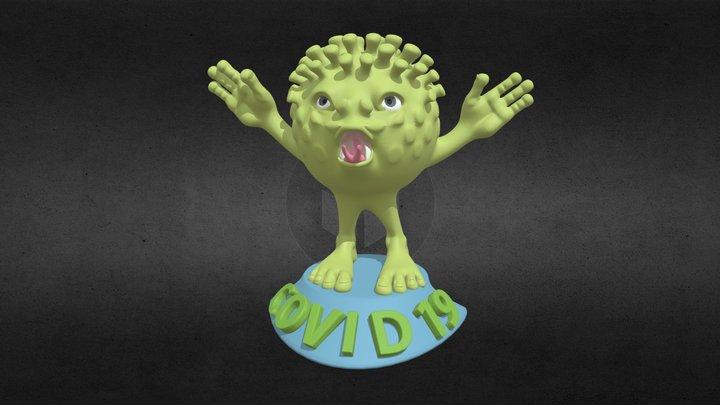Covid 19 - I am Here! 3D Model