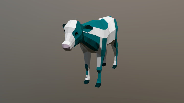 Low-poly veal - neutral pose 3D Model