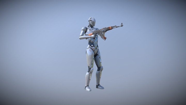 Military Rifle Plus : Mocap Animations Pack 3D Model