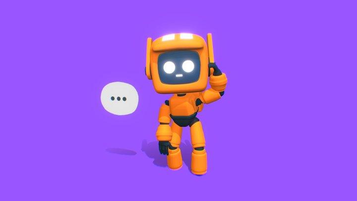 Late - #CuteRobotChallenge 3D Model