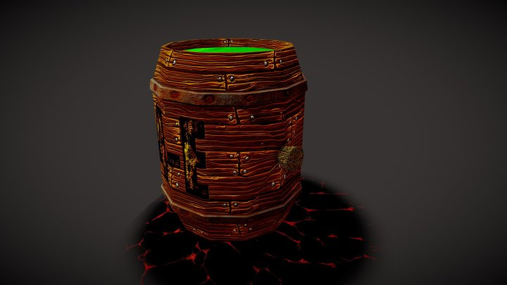 Barril Toxico 3D Model