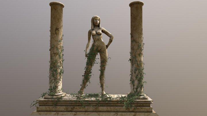 Marble Statue 3D Model