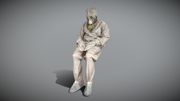 Liquidator of nuclear accident of Chernobyl 56 3D Model