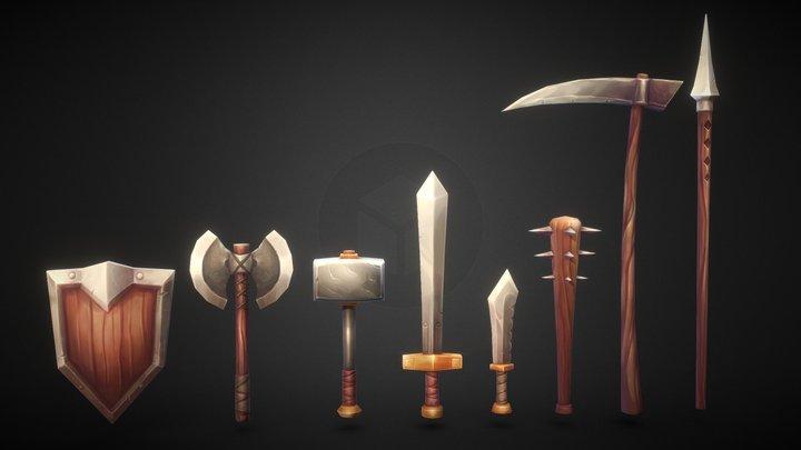 Weapon set 3D Model