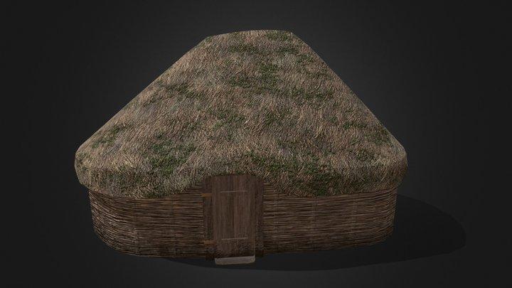 Viking Hut Type 2 - Linn Duachaill 3D Model