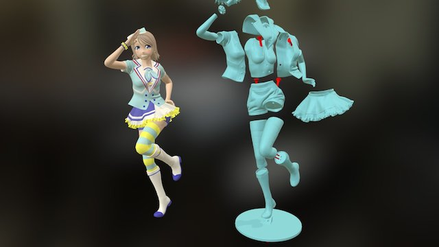 Yousoro! 青空 Jumping Heart [3Dprint] 3D Model