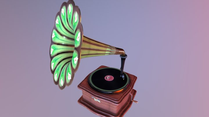 Vintage recordplayer 3D Model