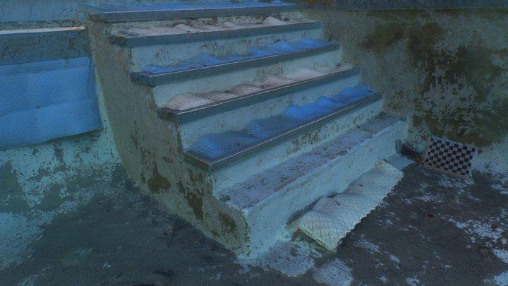 Pool Stairs 3D Model